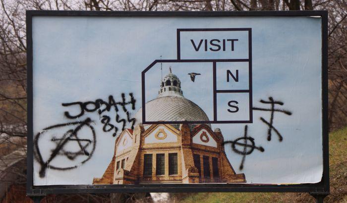 Antisemitic graffiti Novi Sad 1