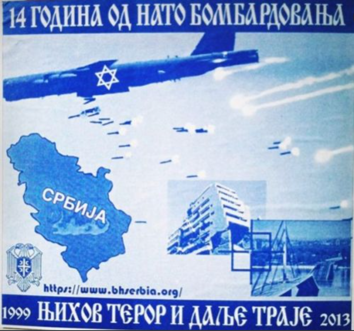 NATO bombing and Jews Poster 2013