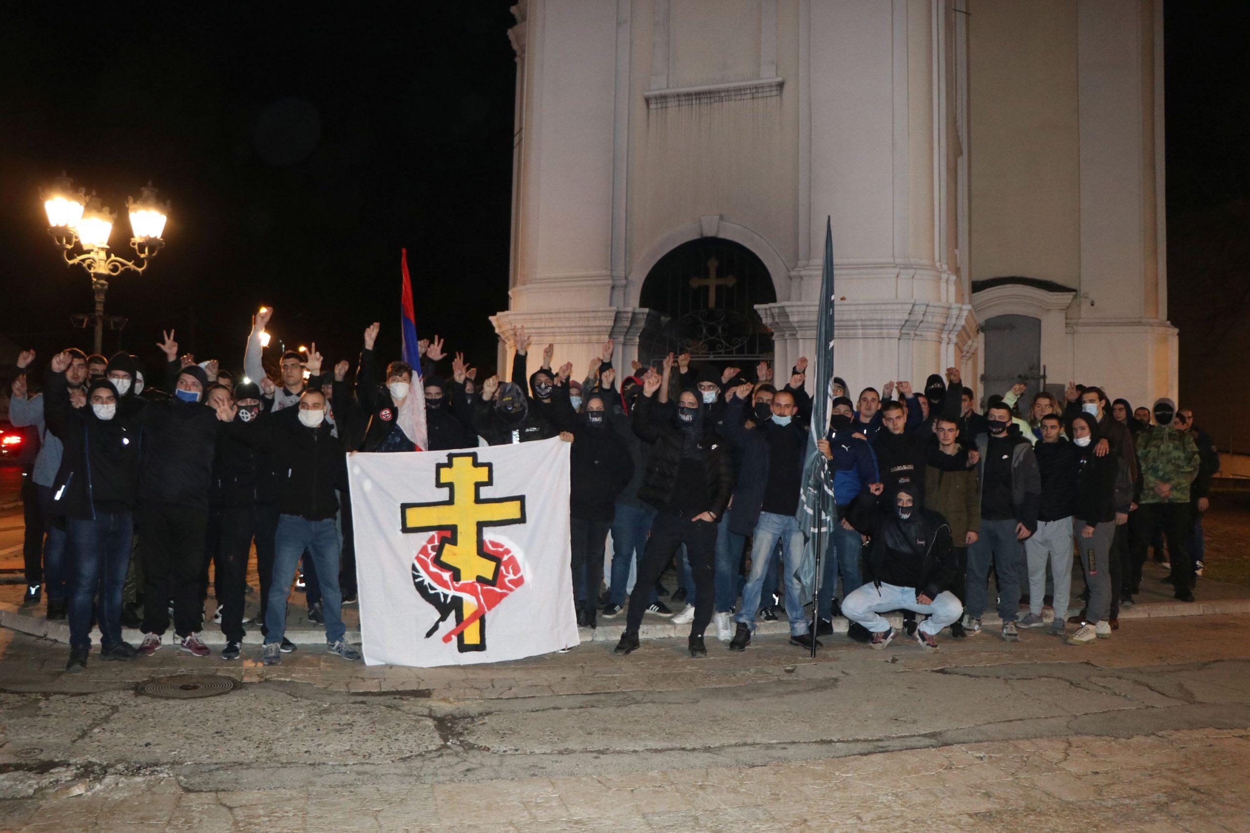 Neo-nazi Novi Sad church 1